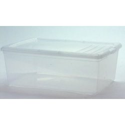 Clear Plastic Bins - they have been my savior throughout this entire renovation process.  They act as a closet for all of my shoes, sweaters and t-shirts, and a temporary home for my books and tear sheets.