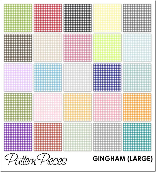 IMAGE - Pattern Pieces - Gingham (Large)