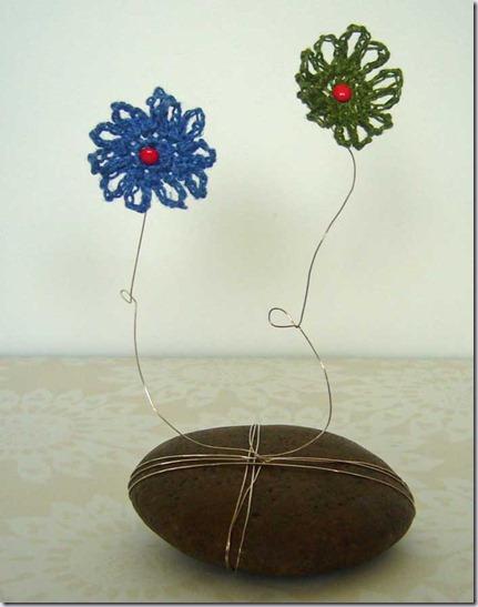 wiebelbloemen blauw en groen