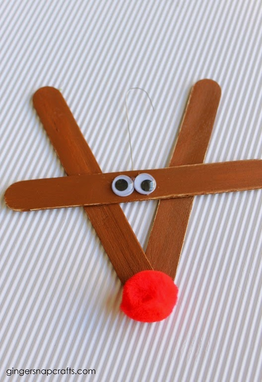 rudolf the red nose reindeer kids craft