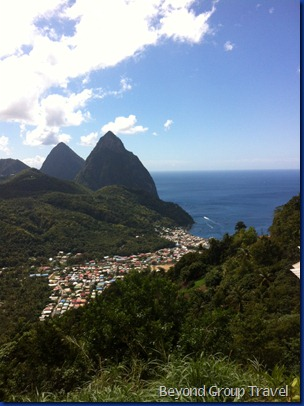 Pitons at Lucia