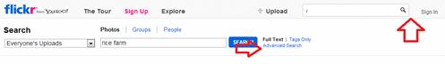 การค้นหาภาพไม่มีลิขสิทธิ์ จาก flickr