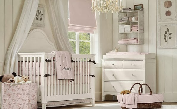 White-Pink-Color-Theme-Baby-Nursery-Room