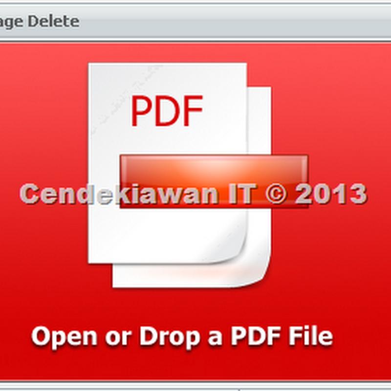 PDF Page Delete, Untuk Menghapus Halaman PDF Tertentu