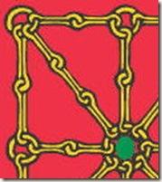 Escudo de Navarra - detalle de las cadenas doradas
