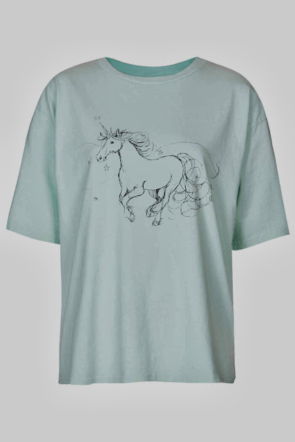 Topshop Mint Unicorn Tee by Boutique