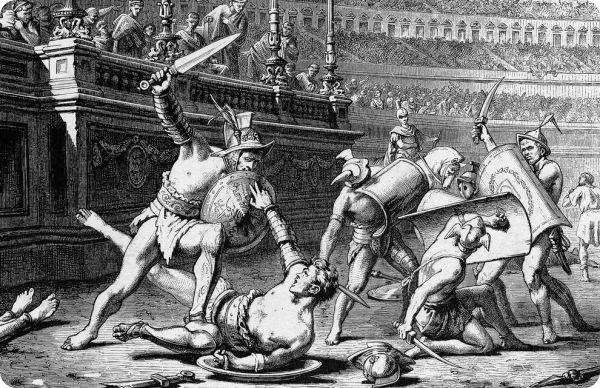 Gladiadores em combate
