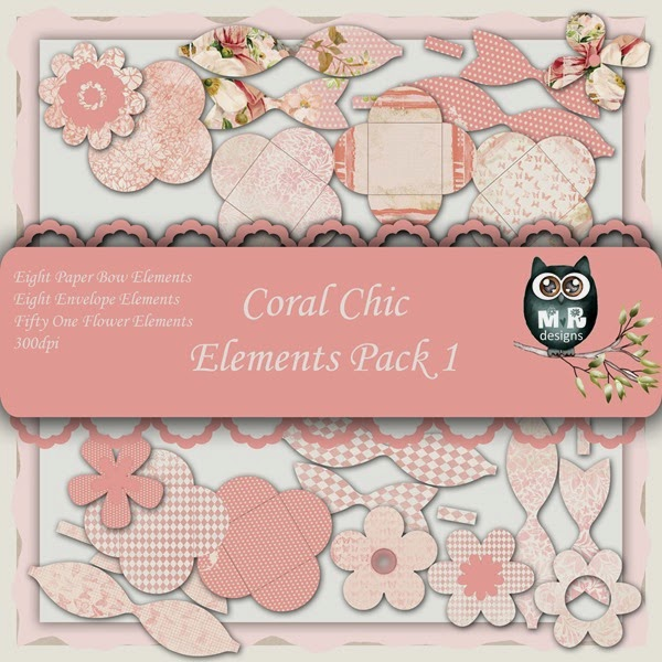 Coral Chic Elements Front Sheet Pack 1