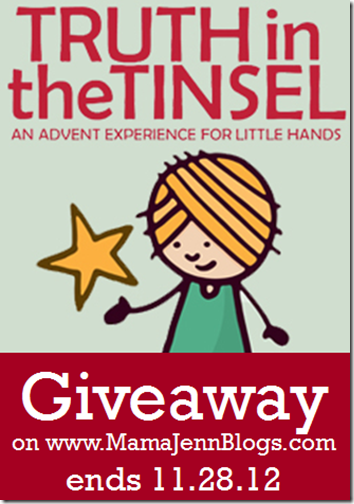 Truth in the Tinsel Giveaway {ends 11.28.12}