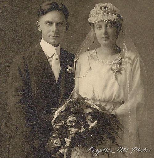 Wedding photo white boots DL Antiques