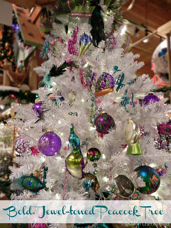 jewel tone peacock tree