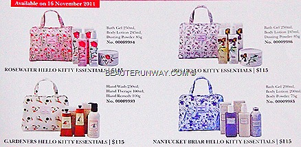 Crabtree & Evelyn X Hello Kitty Limited Edition Christmas Sets Rosewater, Gardners, Nantucket