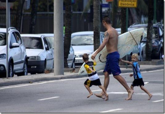 Rodrigo Hilbert e os filhos