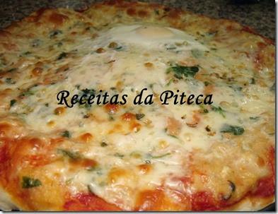 Pizza de peixe-perto
