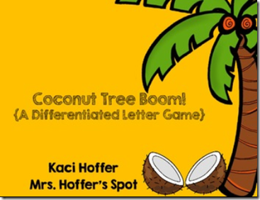 coconut tree letters