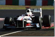 Kobayashi nelle qualifiche del gran premio del Giappone 2011