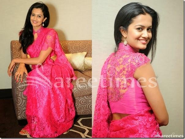 Subrah_Aiyappa_Pink_Saree_Blouse