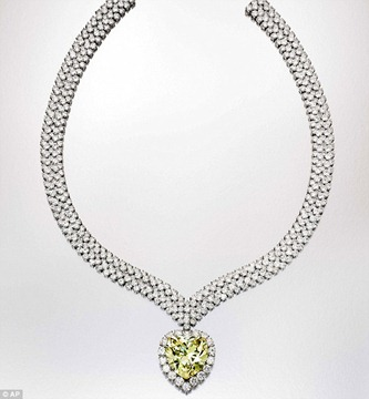47.14-carat yellow diamond necklace pendant