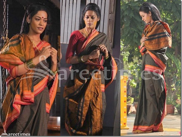 Mumait_Khan_Cotton_Saree