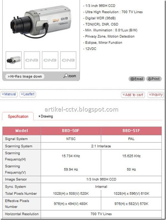 spesifikasi kamera 700 TVL