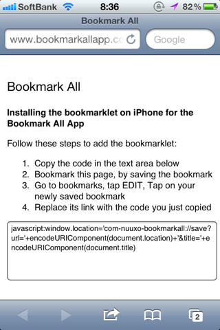Bookmark All Bookmarklet2