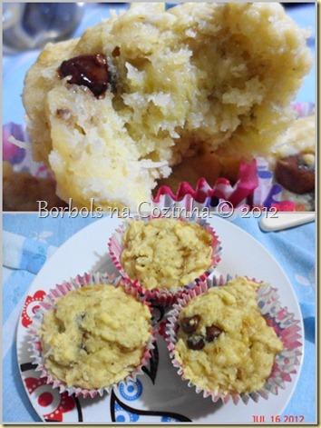 muffins diet de banana, aveia, coco e gotas de chocolate