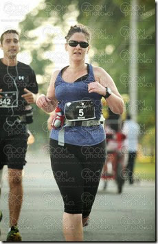 A not-so-horrible photo of mousearoo running A Midsummer Night's Run 30k - August 17, 2013