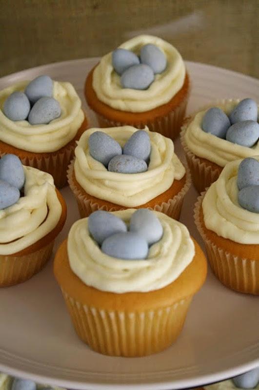 nest & eggs cupcakes