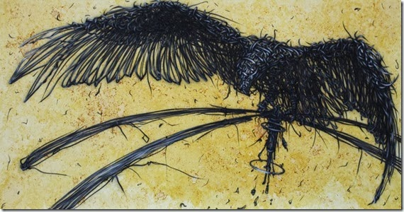 daleast-osmology-iii-ink_-acrylic_tea-on-canvas120x40cm2012