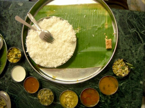 India. A table