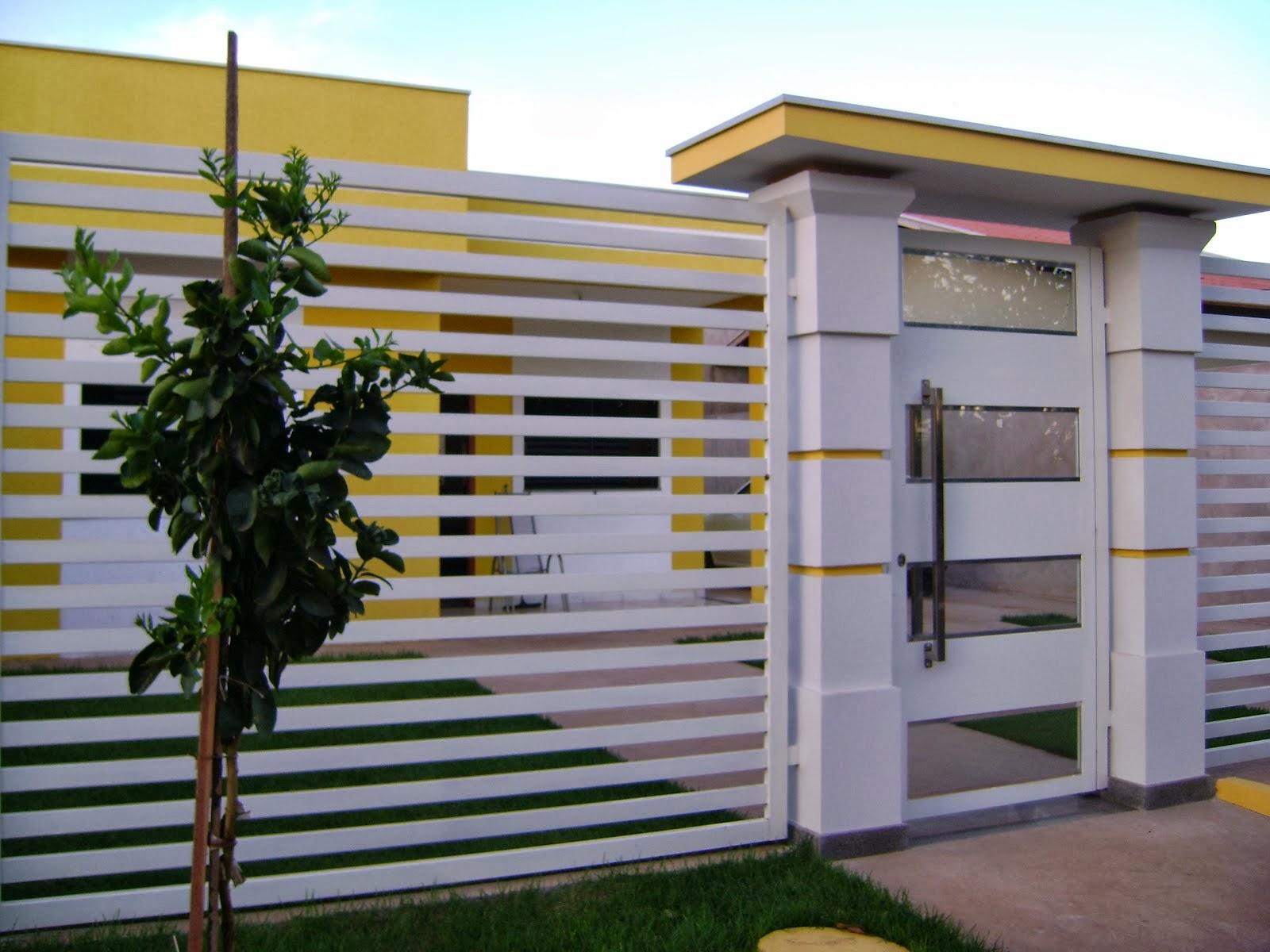 Construindo um sonho a dois muro da frente e fachada for Casas modernas pintadas