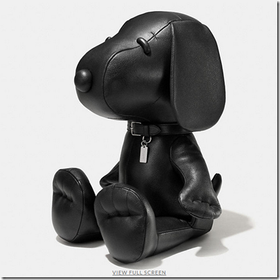 COACH X Peanuts XXL leather snoopy doll - USD 2500 - black