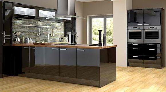 15 dise os de cocinas negras o en tonos oscuros idecorar for Mostrar cocinas modernas