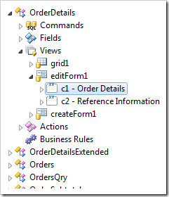 Relevant category node has been selected in the Project Explorer.