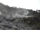 The smoking crater on the northern side of Gunung Wayang (Dan Quinn, December 2012)