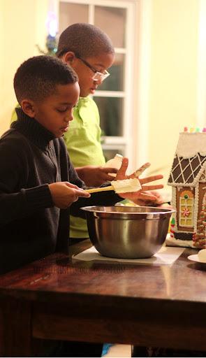 Christmas Eve Making cookies for santa boys 2014 123
