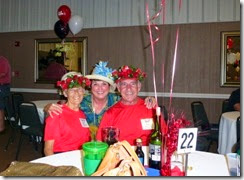 Derby Hats... Nancy, Linda Kendall and Bill