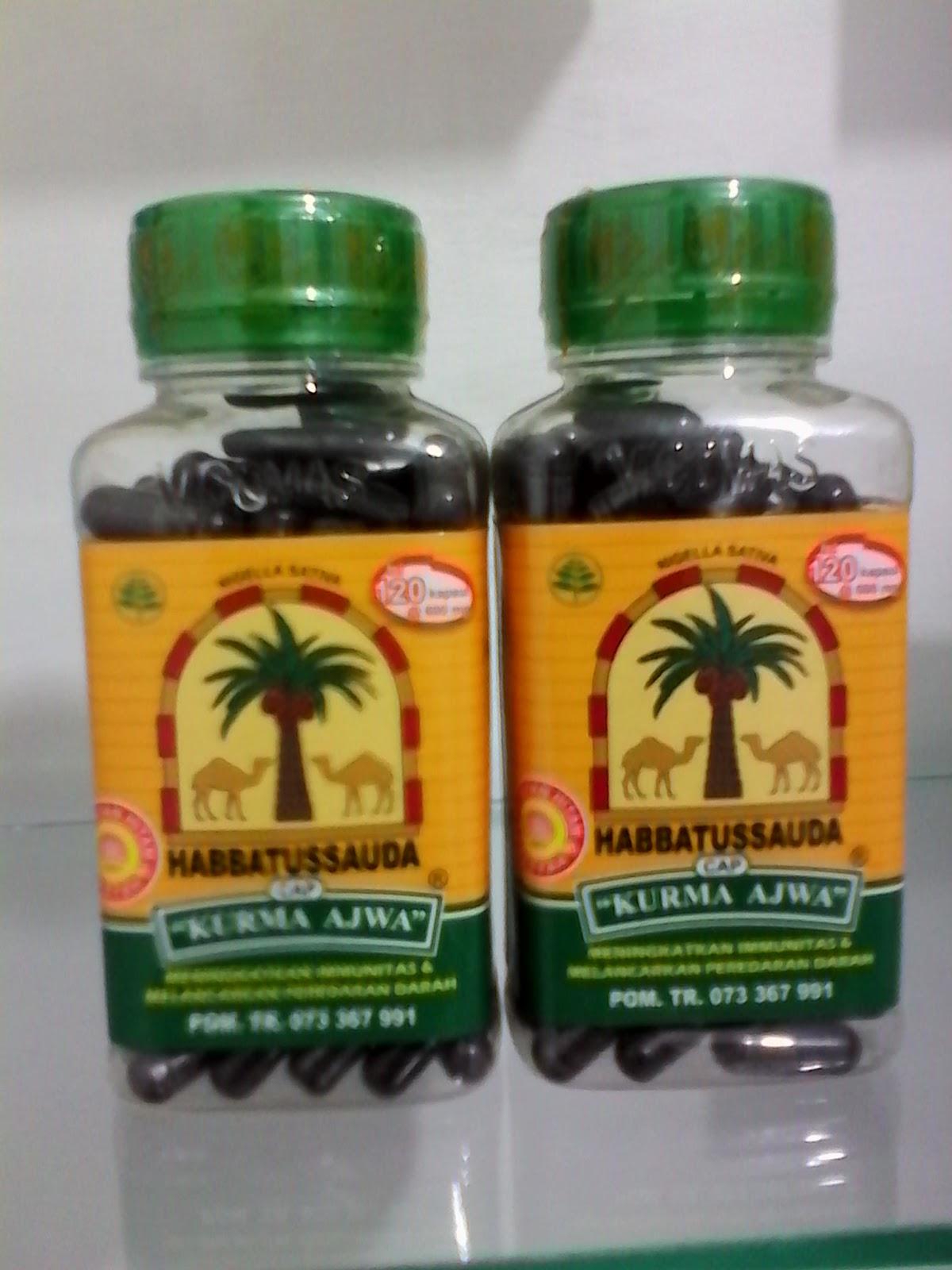 Habba Cap Kurma Ajwa 120 Rp25000 Rumah Herbal Jombang Habbatussauda Kapsul