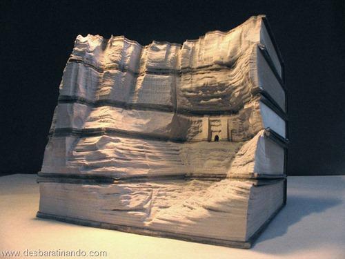 livros montanhas entalhados esculpidos desbaratinando (13)