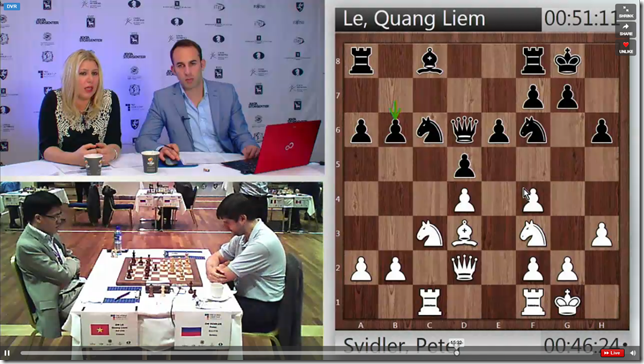 Le vs Svidler, Game 2, Rd 4, FIDE World Cup 2013