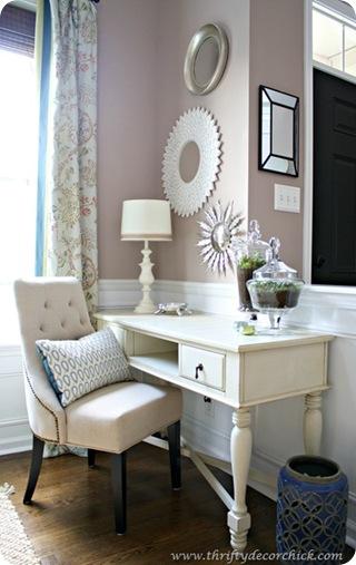 cream desk chair