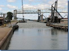 4981 Michigan - Sault Sainte Marie, MI -  St Marys River - Soo Locks Boat Tours - MacArthur Lock, lock gates opened