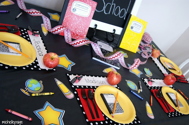 Back to school table spread