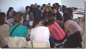 La charla se realizó en la sede de la Asociación de Fomento de Santa Teresita