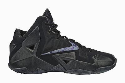 nike lebron 11 gr triple black 5 01 Release Reminder: Nike LeBron XI Blackout (616175 090)