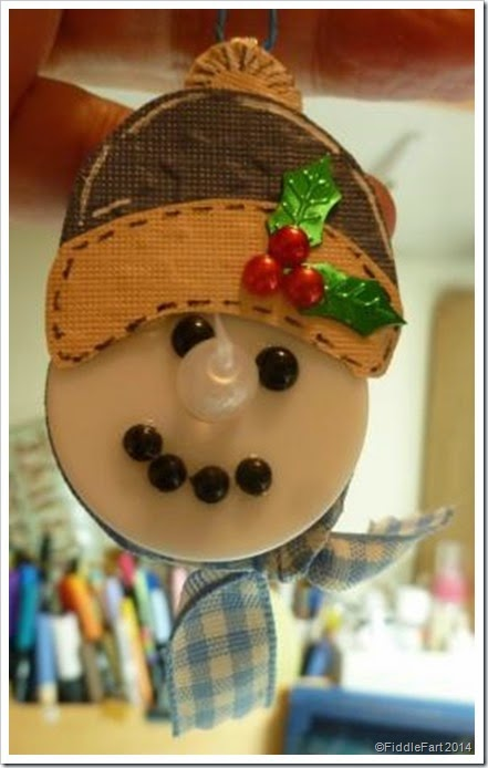 Hanging Tealight snowman