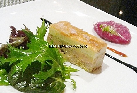 The Halia Foie Gras Presse aapple silvers in port reduction crystalisd rose petal Singapore Botanic Gardens