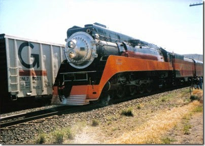 Southern Pacific GS-4 4-8-4 #4449 at Wishram, Washington on June 7, 1997