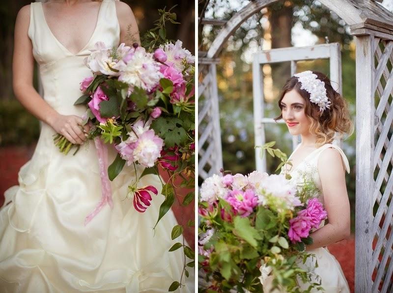 15 OakandtheOwl_ Cascading Garden Bouquet