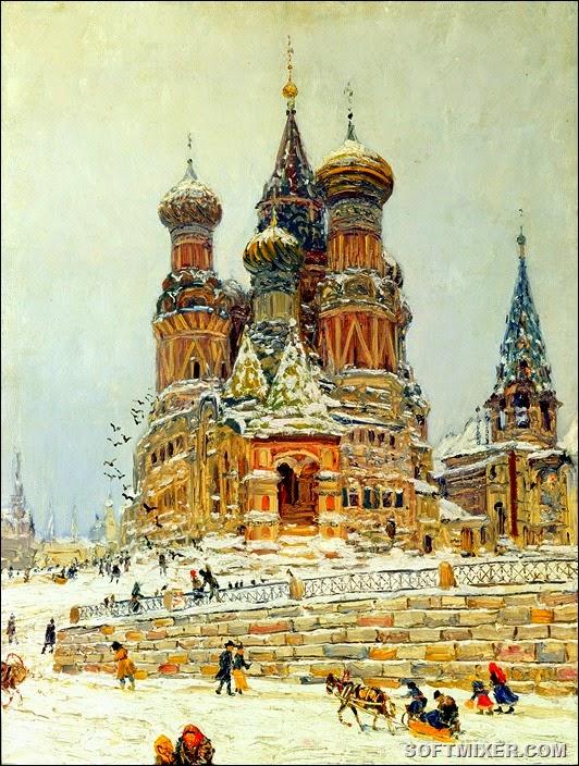 Nikolay_Dubovskoy_Tserkov'_Vasiliya_Blazhennogo_1916-1917
